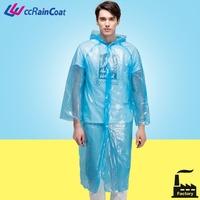 Promotional clear plastic PE transparent rain suit