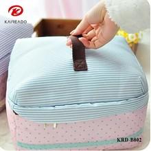 KAREADO creative large capacity mini travel necessory canvas makeup kits bra storage cosmetic bag