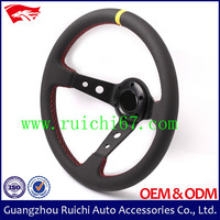 350mm Genuine Leather Deep Dish Mazda Steering Wheel