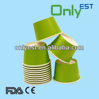 Food grade disposable light green color 8oz ice cream paper cup