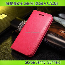 phone case wallet Genuine leather case for iphone 6 plus 4.7 , for iphone 6 case genuine leather,for iphone 6 plus case