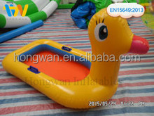 2015 Hot selling inflatable duck boat water toys for kids