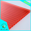 Grade A Bayer Sabic PC Resin Green Double Wall Colored Polycarbonate Panel for Awning Material