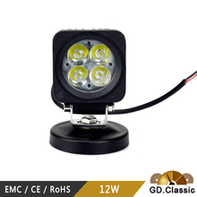 good price 12w led work light KR3122 12w led head lamp 3 inch led work light rechargable