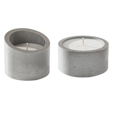 Eco-friendly and high temperature resistant mini cement candle holder designed with soy wax for home decoration