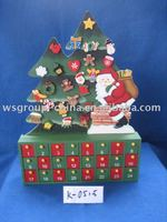 wooden christmas calendar box with magnet