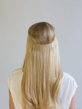 80g Straight Flip In Hair Extensions Hot Resistant Synthetic Hair Extensions