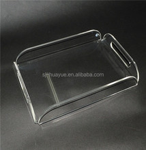 Hotel Or Home Using Engraved Clear Acrylic Serving Tray, Transparent Lucite Serving Tray, Perspex Serving Tray