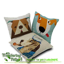 Personality New Pillow Car Cushion Cover Creative Handsome Dog Nap pillow Cover Cute seat cushion cover