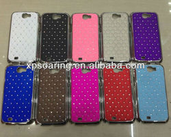 Chrome diamond cover case for Samsung Galaxy Note II N7100