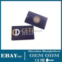 Plastic card usb memory customerized credit card usb flash driver