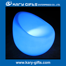 rechargeable outdoor glowing plastic led lounge chair