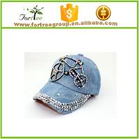 blue jeans cap fashion jeans cap baseball cap for kids
