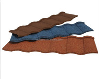 new design shiny roofing tiles, waterproof roofing tiles, africa colorful stone chip coated metal roof tile