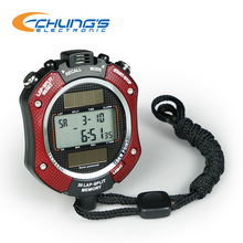 Solar Digital Stopwatch with Display Time Temperature and Humidity