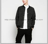 OEM custom made china man black varsity jacket wholesale