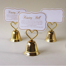Heart Topped Bell Place Card & Photo Holders for Wedding Personalized Party Gifts Supplies