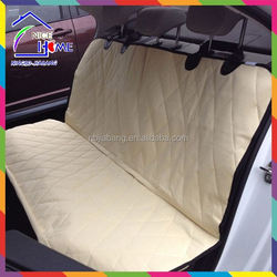 Tan China peach skin 600D oxford the best nonslip backing pet seat cover