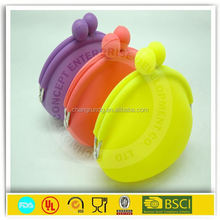 Latest design silicone coin purse/ silica gel ladies wallet change bag
