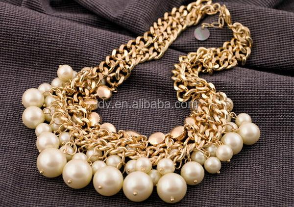 Collar de perlas de joyería pulseras collares moda cristales caucho perla bisuteria