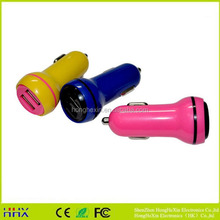 2015 hot selling new product universal colorful dual usb portable car charger for cell phone