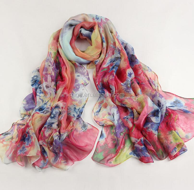 top designer printed 100 silk scarf gb520