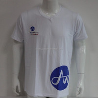 bulk v-neck t-shirt cheap cotton plain white t-shirts wholesale silkscreen printing t shirt