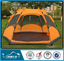 Hexagonal tent 100% covered Double layer Tent for outdoor camping