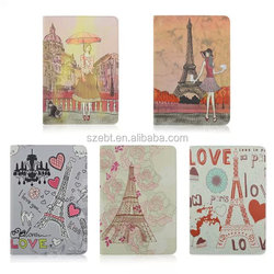 Lovely Leather Cover For Ipad 6,For Ipad 6 Case With Tower Girls Design