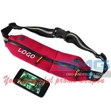 LOGO Printing Neoprene Flip Running Belts Fitness Workout Pouch Waist Bags