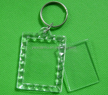 hot sale photo frame key chain,transparent photo frame key roll