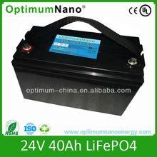 12v 24v lithium ion industrial battery 24v 40ah with charger