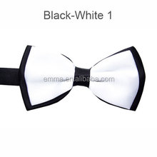 New coming black white ribbon bow tie handsome self tie bow tie for sale BOT4013