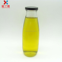 500ml large glass bottle clear milk beverage water juice glass bottle with screw metal lid