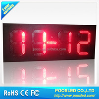 outdoor led clock /time/date /temperature sign