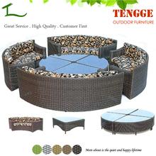 YH-8041 Regent seat brown all weather garden furniture round bench