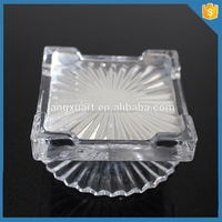 LXHY Square decoration crystal Glass Cake Stand for wedding cakes