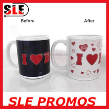 high quality custom design personalized heat sensitive ceramic color changing mugs,factory manufacture directly magic cup