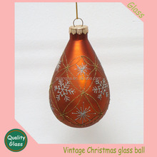 glass gold Christmas ball ornaments decorated glittered Rauch Industries