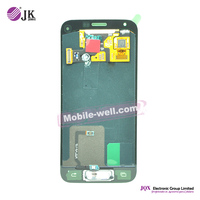 [JQX] Low price china mobile phone front glass lens with touch digitizer assembly for samsung s5 mini g800f white lcd