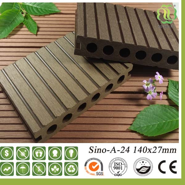 Crack resistant tongue and groove wood composite decking for Cheap decking material