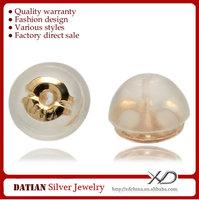 XD K030 Genuine 18 Karat Gold Earring Backs for Stud Earrings