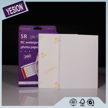 Yesion Hot Photo, Best Quality 260gsm Waterproof 4x6 A4 RC High Glossy Photo Paper For Inkjet Printer