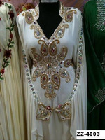 white letest Moroccan Kaftan nice Farasha Abaya Jalabiya fashion muslim ladies long designer arabic dress k6866