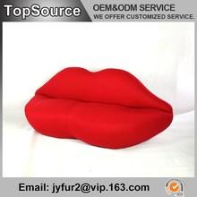 Home Designs Leather Covered Polyurethane Foam Marilyn Monroe Sofa
