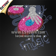 Super DJ motif rhinestone hotfix for garment free custom design
