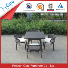 Courtyard furniture rattan balcony table and chair