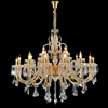 Three Stairs Large Glass Chandelier Lamp for Hotel and Villa