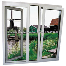 2013 Hot double insulated PVC Casement Window with fly screen,ROTO hardware