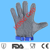 long-sleeve metal protective safety gloves for cutting/ butcher chain mail ring mesh gloves